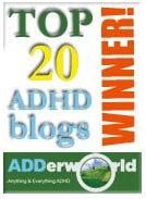 award adhdBest ADD ADHD blogs on the Net 2012
